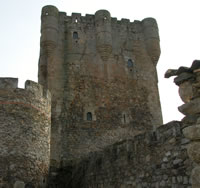 Medieval castles. City wall. Ancient architecture.
